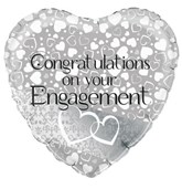 """Entwined Hearts Engagement 18"""" Foil Balloon"""