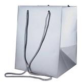 Metallic Silver Hand Tie Gift Bag