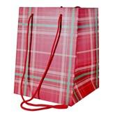 Tartan Hand Tie Gift Bag
