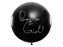 Girl Gender Reveal 1M Giant Latex Balloon - Pink Confetti