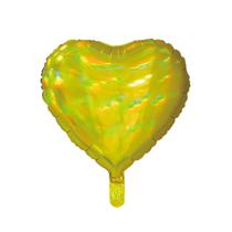 """Sensations Iridescent Gold 18"""" Heart Foil Balloon"""