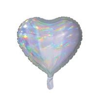 """Sensations Iridescent Silver 18"""" Heart Foil Balloon"""