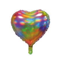 """Sensations Iridescent Rainbow 18"""" Heart Foil Balloon"""