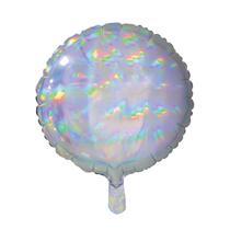 "Sensations Iridescent Silver 18"" Round Foil Balloon"