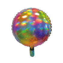 """Sensations Iridescent Rainbow 18"""" Round Foil Balloon"""