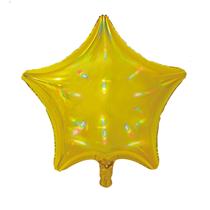 """Sensations Iridescent Gold 19"""" Star Foil Balloon"""