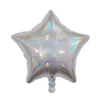 """Sensations Iridescent Silver 19"""" Star Foil Balloon"""