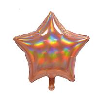 """Sensations Iridescent Rose Gold 19"""" Star Foil Balloon"""