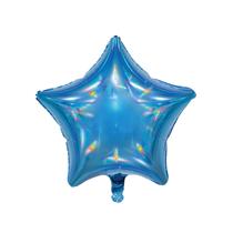 """Sensations Iridescent Blue 19"""" Star Foil Balloon"""