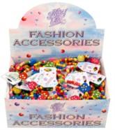 Kid's Colourful Wooden Bead Bracelets 96pk