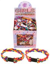 Kid's Multi-Coloured Braid Bracelets 144pk