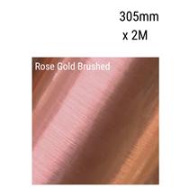 Rose Gold Brushed Aluminium Vinyl 305mm x 2M