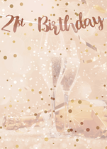 Rose Gold 21st Birthday Script Banner