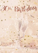 Rose Gold 30th Birthday Script Banner