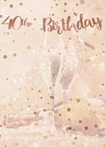 Rose Gold 40th Birthday Script Banner