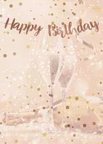 Rose Gold 18th Birthday Script Banner
