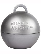 Silver Metallic Bubble Balloon Weight