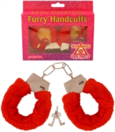 Hen Party Red Furry Handcuffs