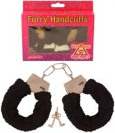 Hen Party Black Furry Handcuffs