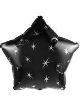 "Black Sparkle Star 18"" Foil Balloon"