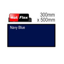 Navy Blue Hot Flex Ultra Garment Vinyl Sheet 300mm x 500mm