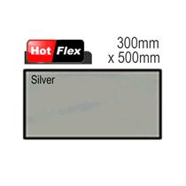 Silver Hot Flex Ultra Garment Vinyl Sheet 300mm x 500mm