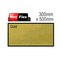 Gold Hot Flex Ultra Garment Vinyl Sheet 300mm x 500mm