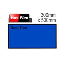 Royal Blue Hot Flex Ultra Garment Vinyl Sheet 300mm x 500mm