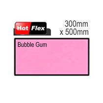 Bubblegum Pink Hot Flex Ultra Garment Vinyl Sheet 300mm x 500mm