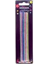 Multicoloured Sparkling Candles 16pk