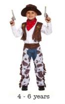 Child Wild West Cowboy Fancy Dress Costume 4 - 6 yrs