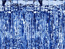 PartyDeco Blue Door Curtain 90cm x 250cm