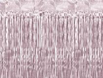 Light Pink Foil Door Curtain Backdrop 2.5M