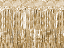 PartyDeco Gold Door Curtain 90cm x 250cm