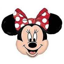 """Minnie Mouse With Red Bow 34"""" Jumbo Foil Balloon (Loose)"""