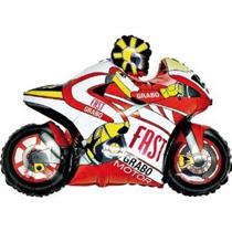 "Red Motorbike 39"" Large Foil Balloon (Loose)"