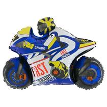 "Blue Motorbike 30"" Jumbo Foil Balloon (Loose)"