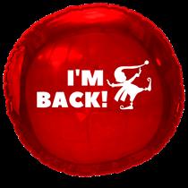 Christmas Elf Arrival Im Back Red Foil Balloon