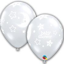 Qualatex Diamond Clear Baby Shower Latex Balloons 25 Pack