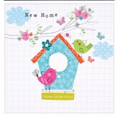 Birdhouse New Home Cards with Envelopes - 6pk