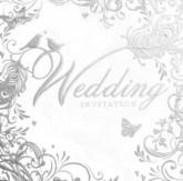 Ornate Silver Wedding Invitations with Envelopes - 6pk