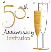 50th Anniversary Party Invitations with Envelopes - 6pk