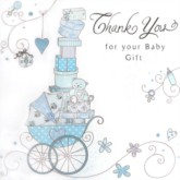 Thank You Baby Shower Cards and Envelopes - 6pk