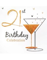 Gold 21st Birthday Invitations with Envelopes 6pk
