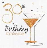 30th Birthday Celebration Party Invitations with Envelopes - 6pk