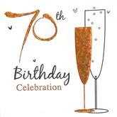 70th Birthday Party Invitations with Envelopes - 6pk