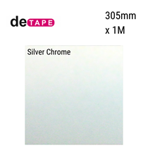 DeTape Silver Chrome Vinyl 305mm x 1M