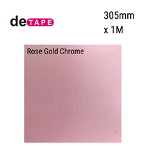 DeTape Rose Gold Chrome Vinyl 305mm x 1M