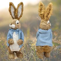 Giant Easter Rabbit Straw Poseable Ears