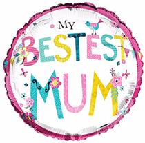"Mother's Day My Bestest Mum 18"" Foil Balloon"